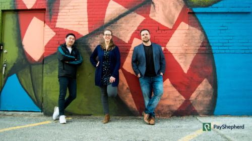 Three co-founders of PayShepherd include Johan Lee, Jenn Hunter and CEO Wesley Sessenwein.